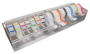 label dispensers, day dots, labels, multi roll label dispenser